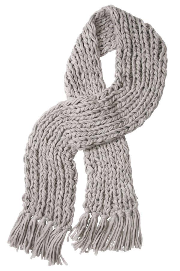серые шерсти шарфа стоковые фото