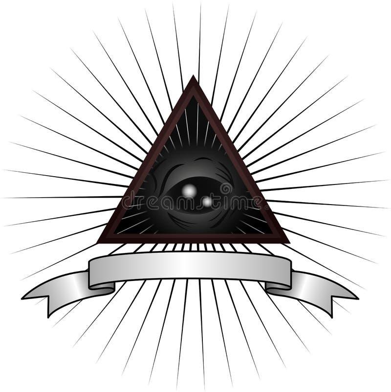 Серый глаз чужеземца иллюстрация вектора