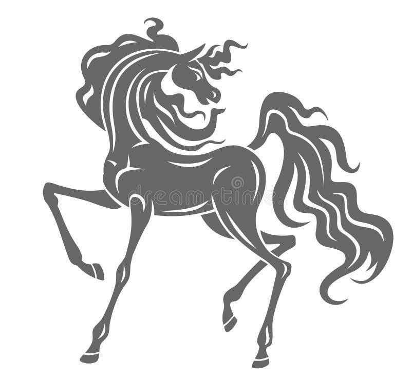 серый жеребец иллюстрация штока