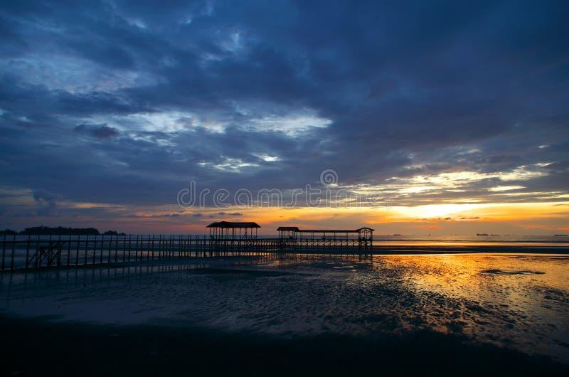 Серый заход солнца стоковые фотографии rf
