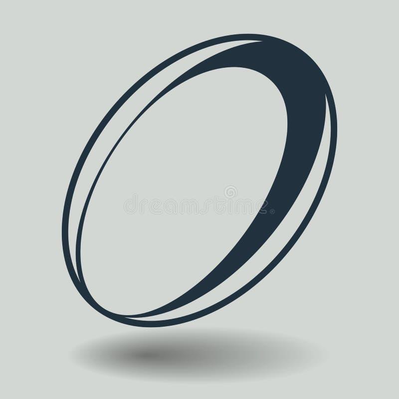 Серый значок рэгби изолированный на предпосылке Современная плоская пиктограмма, дело, маркетинг, concep интернета иллюстрация вектора
