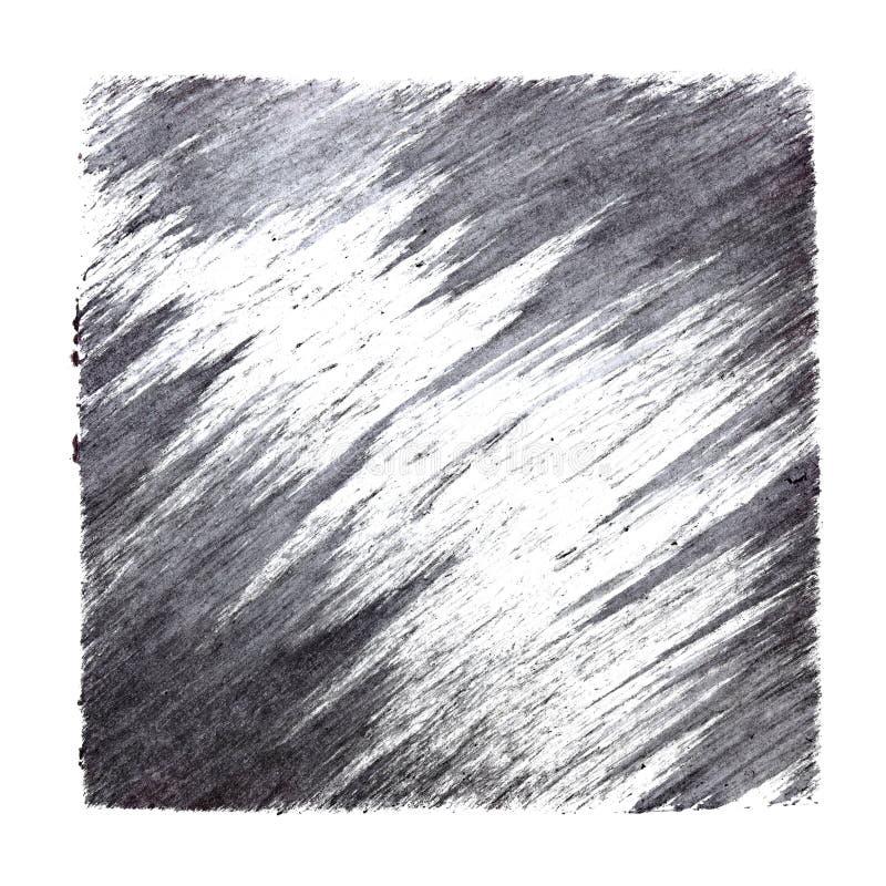 Серый квадрат с ходами щетки иллюстрация штока