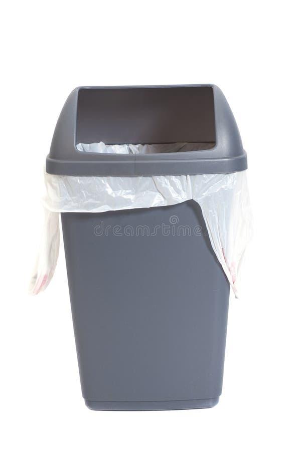 Серый мусорный ящик стоковое изображение