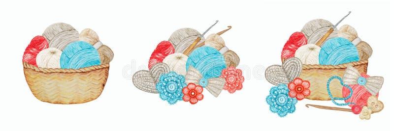 Серый серый серый синий бейдж Crochet Shop Logotype set, Branding, Аватар композиция крючков, пряжек, жареного сердца, лука стоковые фотографии rf
