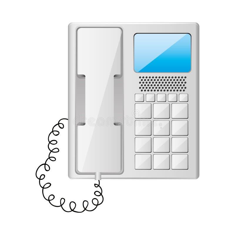 Серый телефон офиса с связанный проволокой бесплатная иллюстрация