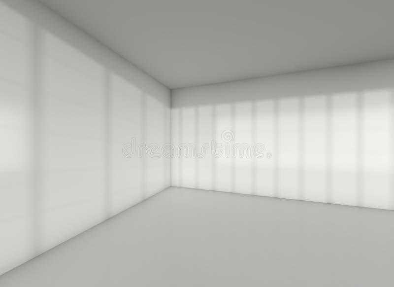Серый угол комнаты с тенью от захода солнца стоковые изображения rf