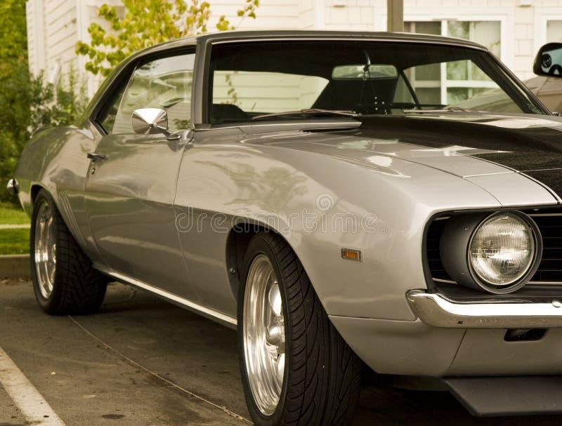 серый цвет автомобиля классицистический стоковое изображение rf