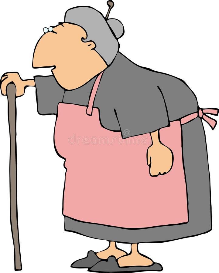 серый цвет бабушки иллюстрация вектора