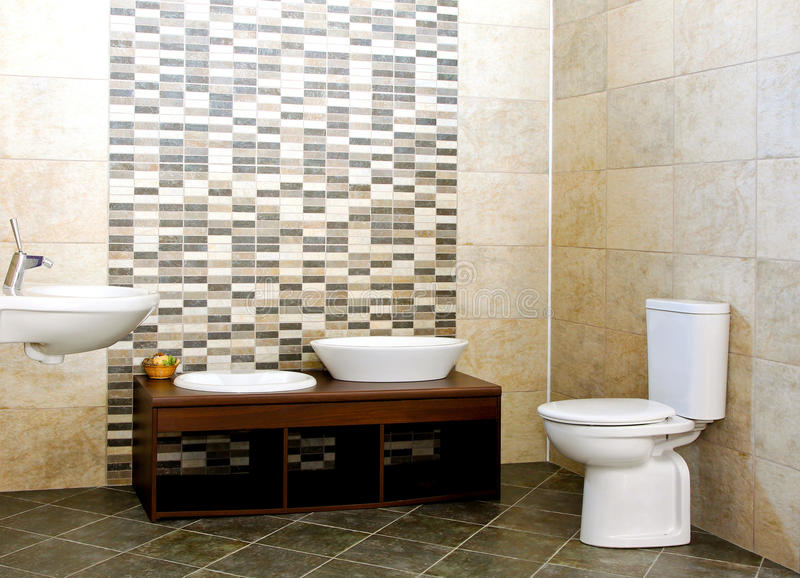 серый цвет ванной комнаты стоковые фотографии rf