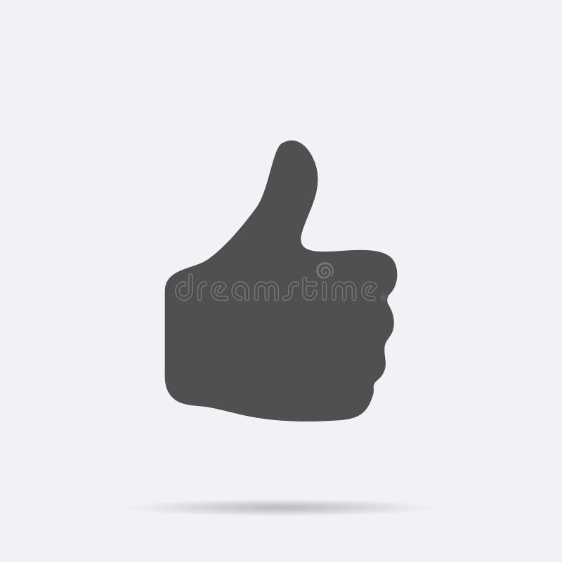 Серый цвет как значок изолированный на предпосылке Современная плоская пиктограмма, дело, маркетинг, концепция интернета иллюстрация штока