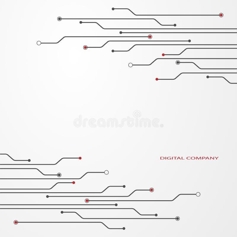 Серый цвет монтажной платы иллюстрация вектора