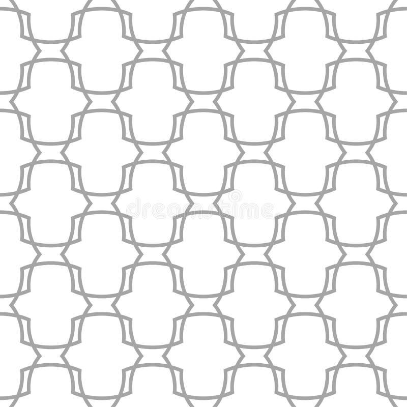 Серый цвет на белом геометрическом орнаменте картина безшовная бесплатная иллюстрация