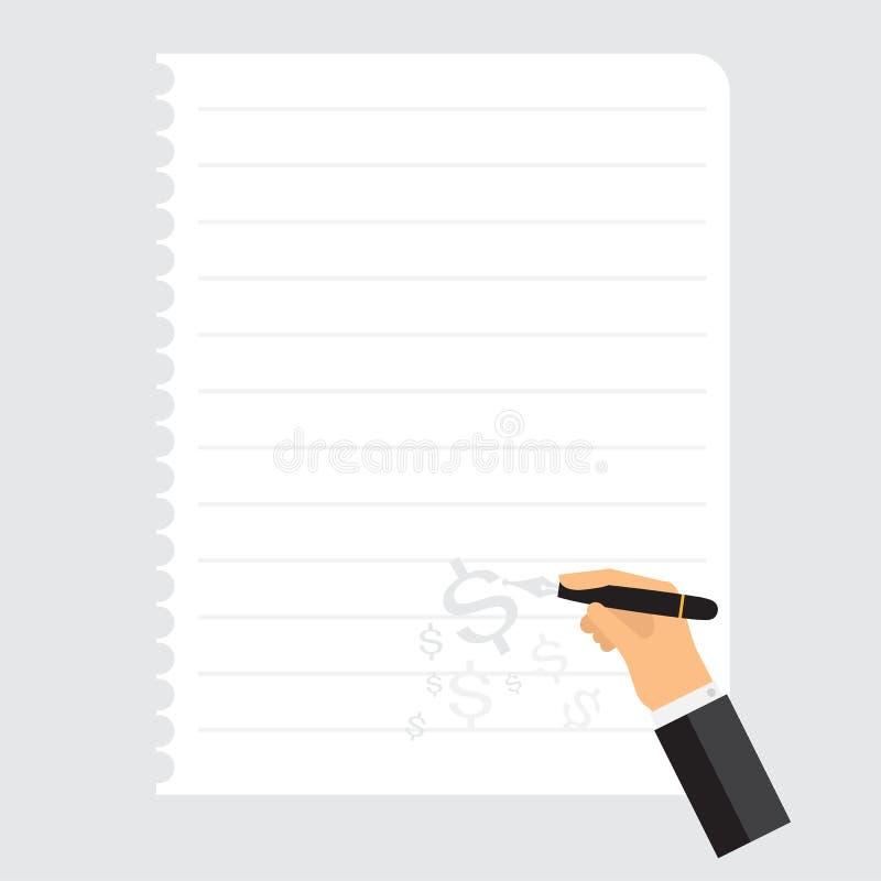 Серый цвет примечания бумажного блокнота дела вектора белый иллюстрация штока