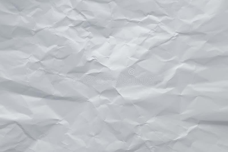 Серый цвет скомкал бумажную предпосылку Серая creased страница листа Абстрактная грубая текстура, космос экземпляра Белая сморщен стоковые изображения
