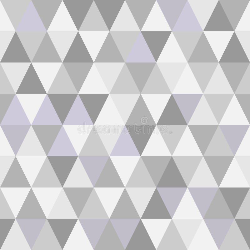 Серый цвет тонизирует картину геометрических треугольников безшовную иллюстрация вектора