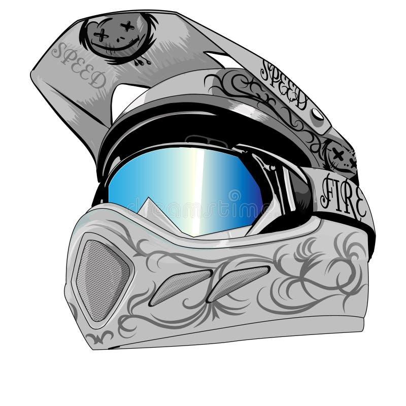 Серый цвет шлема иллюстрация штока