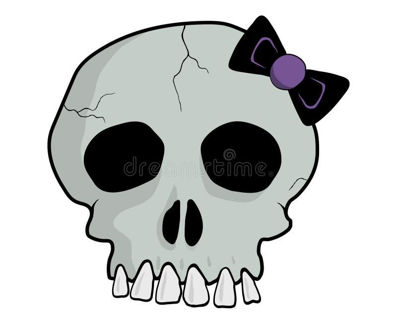 Серый череп emo стоковое фото