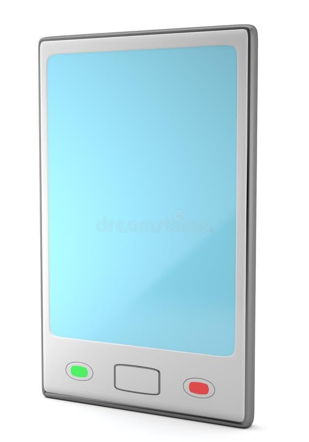 Серый smartphone изолированный на белой предпосылке бесплатная иллюстрация