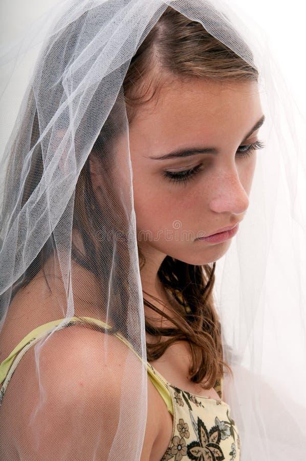 серьезная предназначенная для подростков женщина стоковое фото