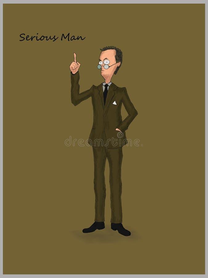 Серьезные человек или бизнесмен стоковое изображение rf