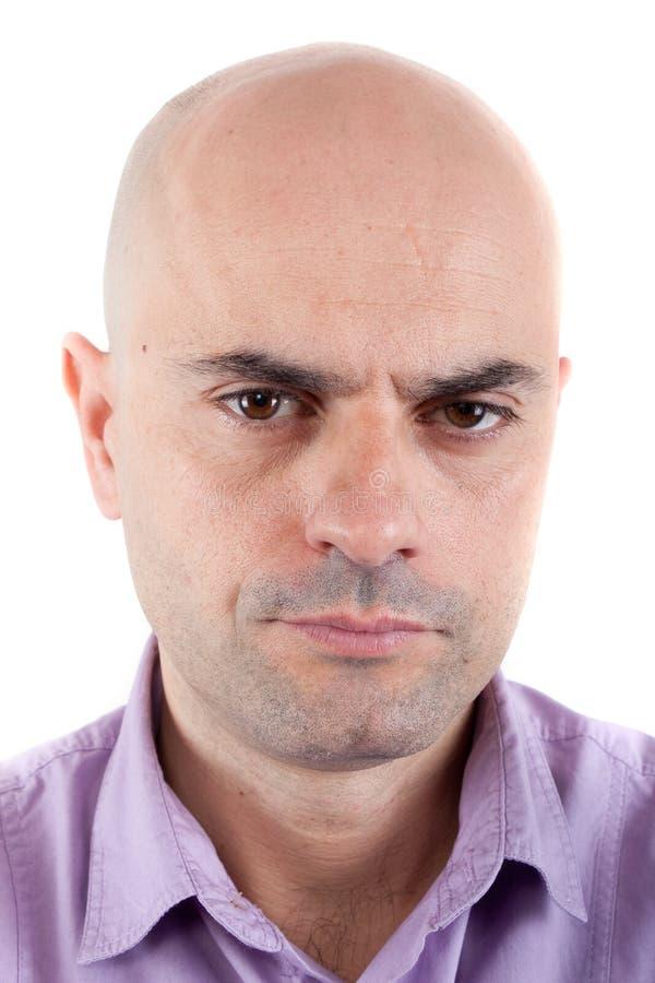 Серьезный и сердитый человек стоковая фотография