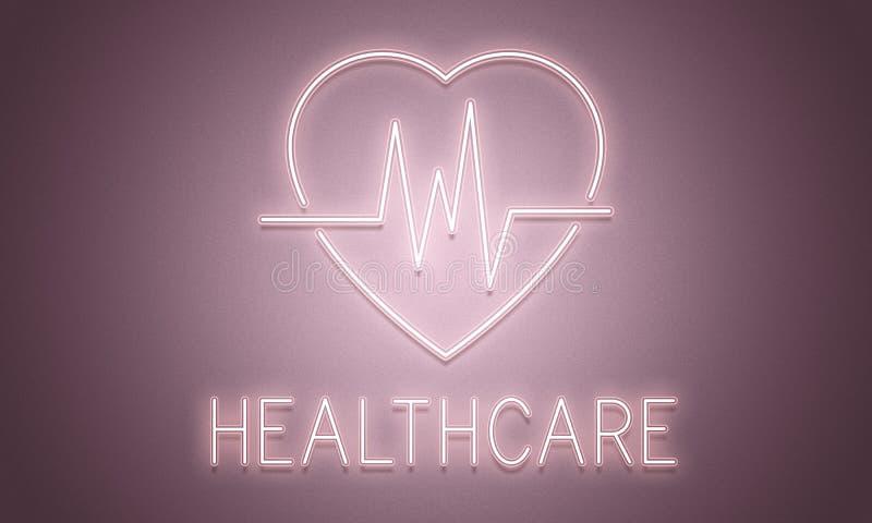 Сердечная концепция графика сердца сердечно-сосудистого заболевания иллюстрация вектора