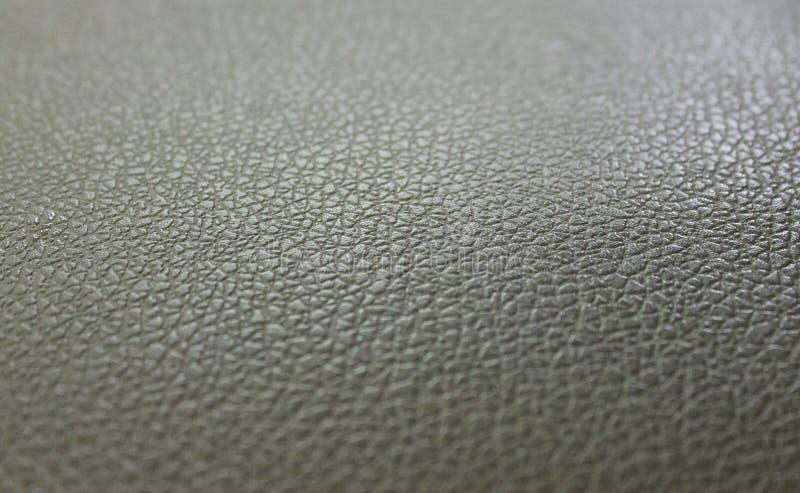 Сер-зеленая кожаная структура поверхности предпосылки стоковое изображение rf
