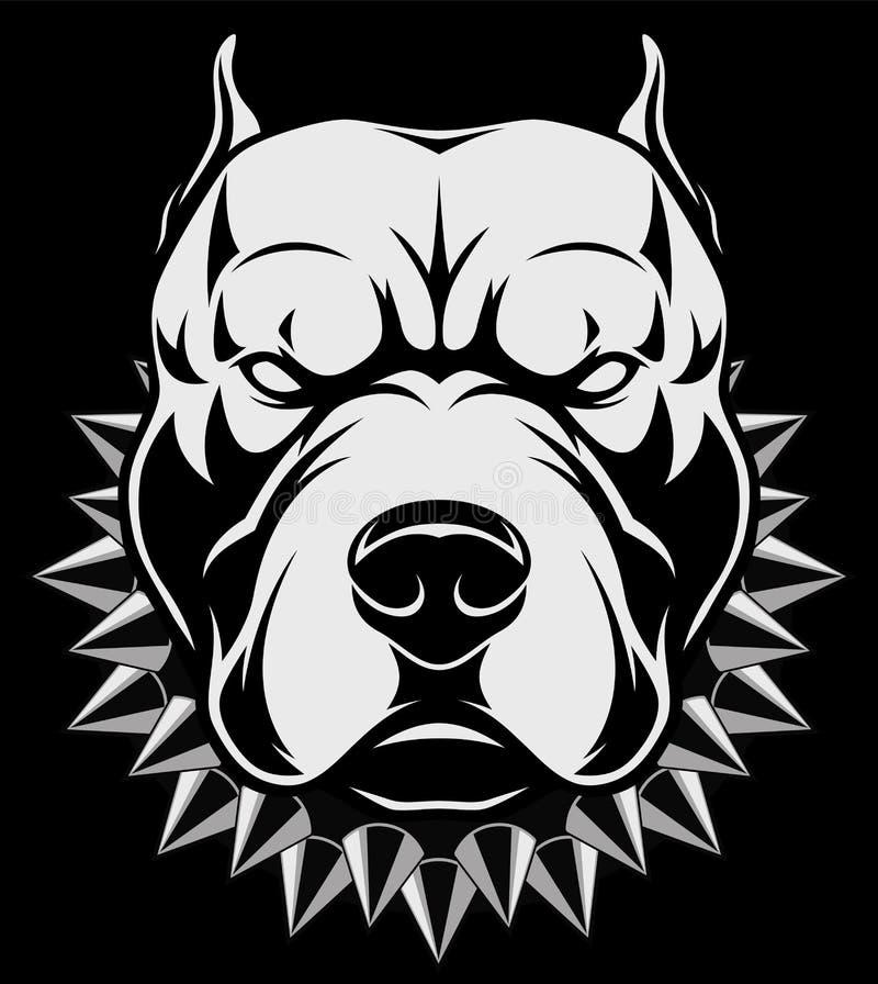 Сердитая голова собаки иллюстрация вектора