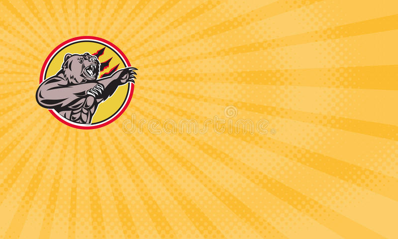 Сердитая еда гризли дополняет визитную карточку бесплатная иллюстрация
