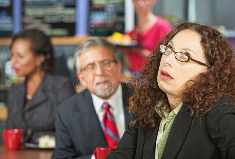 сердитая женщина дела стоковая фотография rf