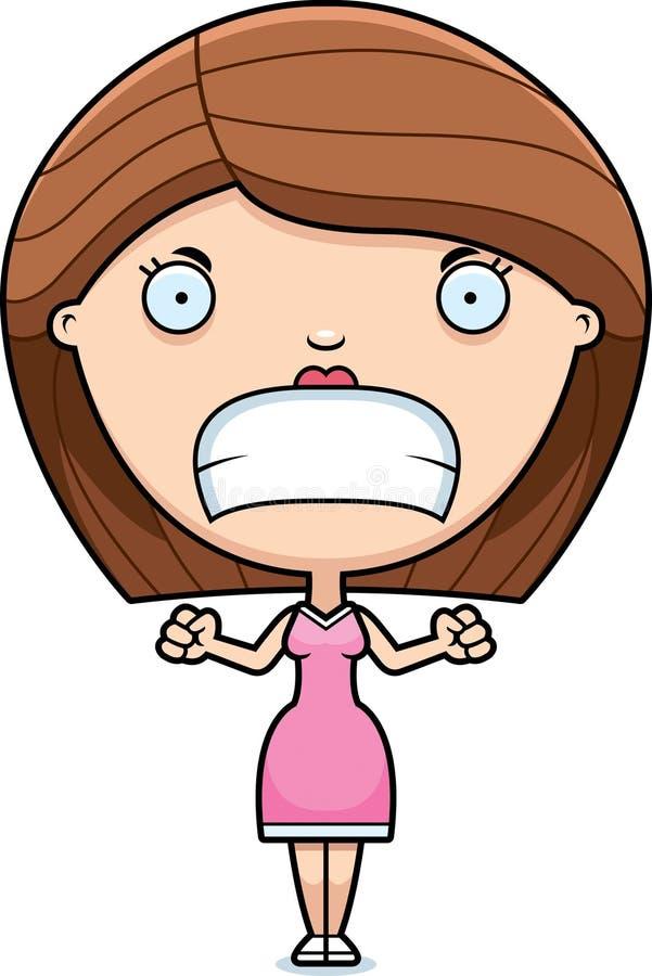 Сердитая женщина шаржа бесплатная иллюстрация