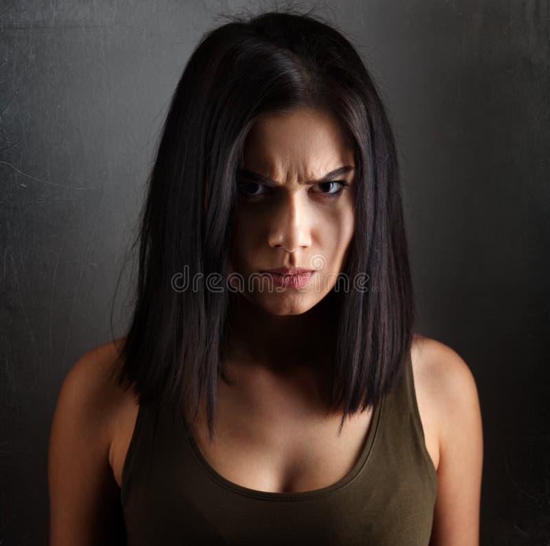 Сердитая злая женщина стоковая фотография rf