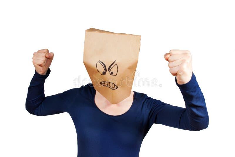 Сердитая персона стоковая фотография