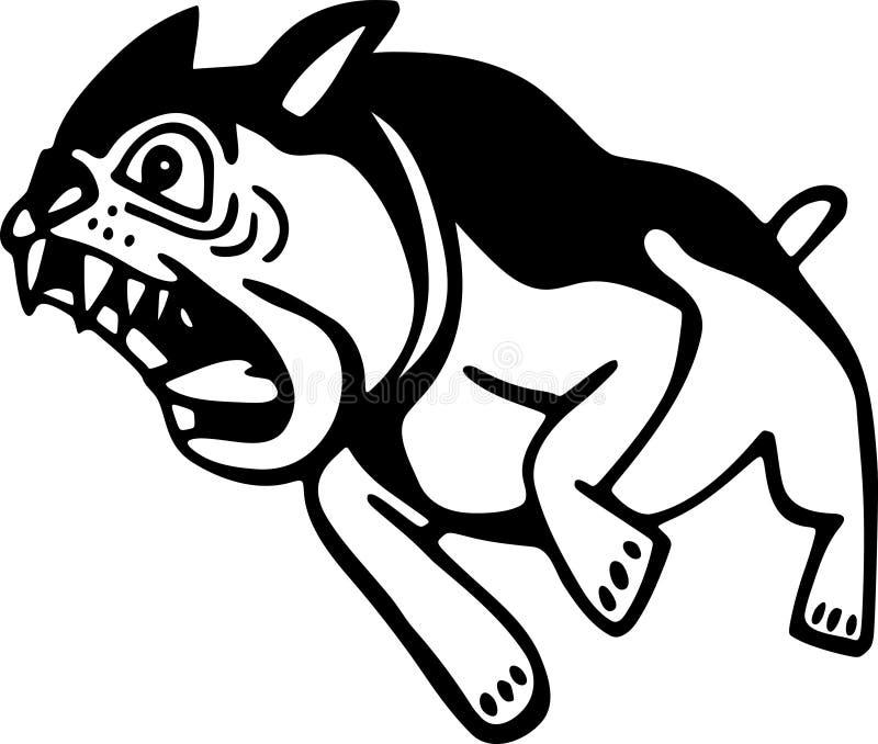 Сердитая собака иллюстрация штока