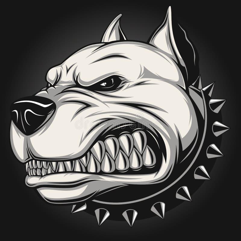 Сердитая собака иллюстрация вектора