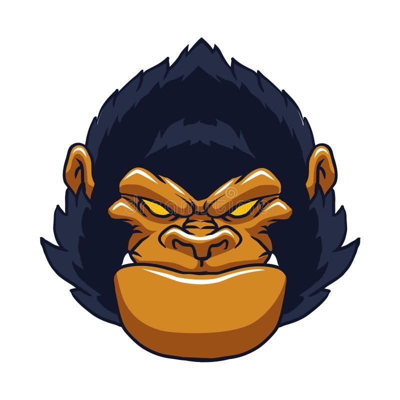 Сердитая сторона гориллы обезьяны бесплатная иллюстрация