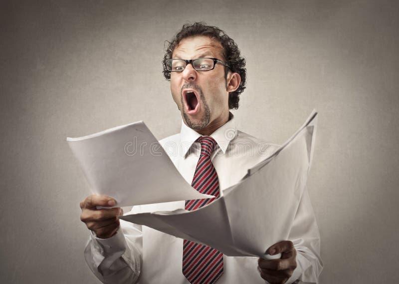 сердитый босс стоковое изображение