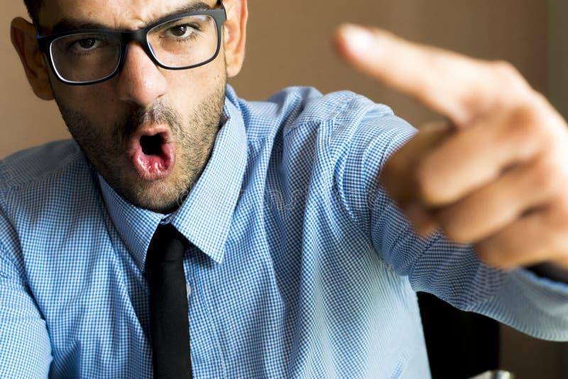 сердитый босс стоковые изображения