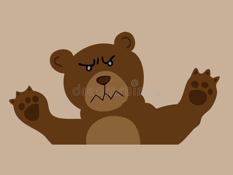 Download Сердитый бурый медведь иллюстрация вектора. иллюстрации насчитывающей bearskin - 40590881