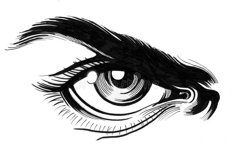 Сердитый глаз иллюстрация штока