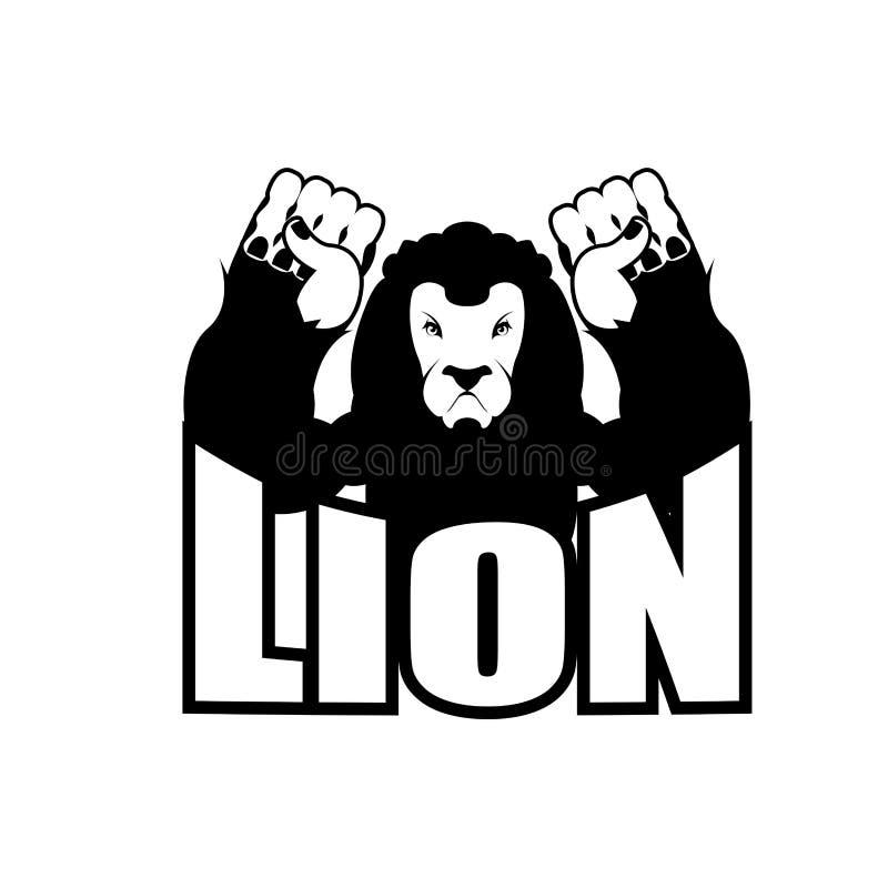 Сердитый лев Агрессивный одичалый логотип большой leo зверя Злий одичалый anima бесплатная иллюстрация