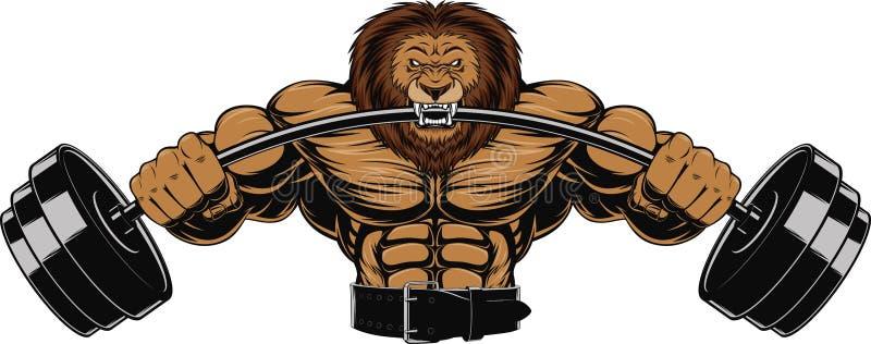 Сердитый лев иллюстрация вектора