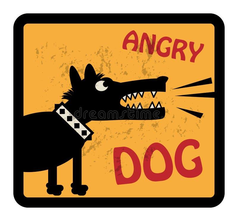 Сердитый знак собаки иллюстрация вектора