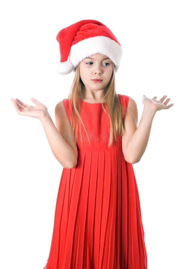 Сердитый или расстроенный ребенок или пре-предназначенное для подростков изолированные на белой предпосылке стоковые фотографии rf