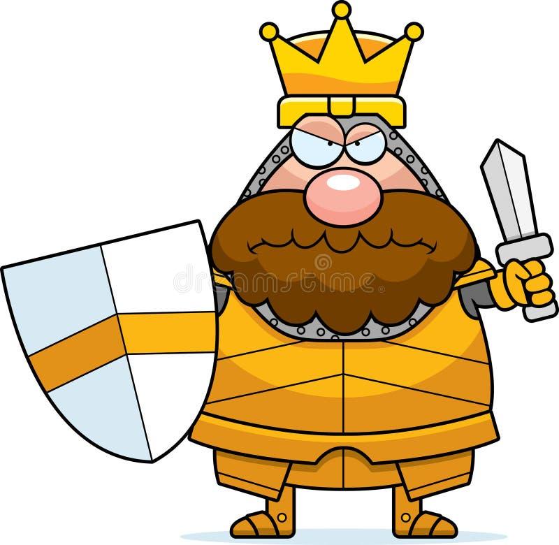 Сердитый король шаржа иллюстрация штока