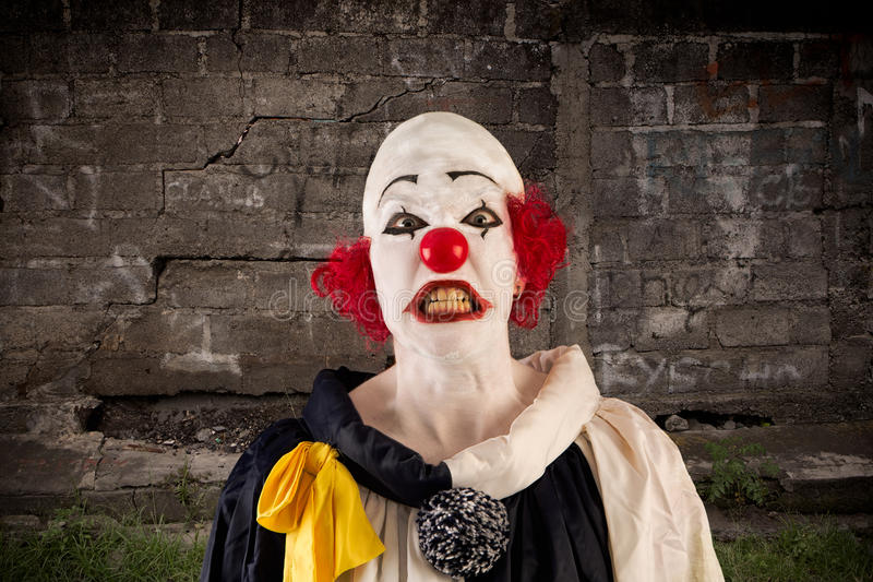 сердитый клоун стоковое изображение