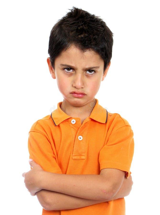 сердитый мальчик очень стоковая фотография