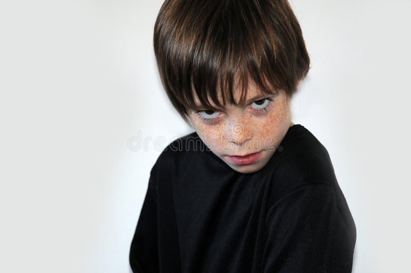 Сердитый мальчик стоковые изображения rf