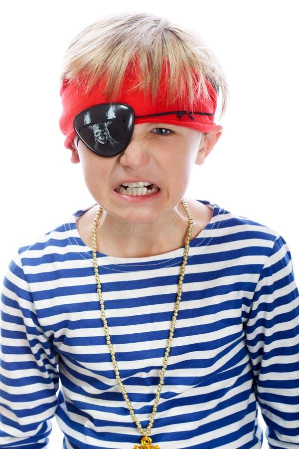 сердитый пират стоковое фото