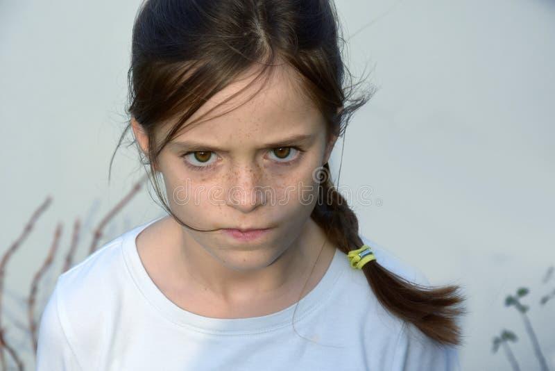 сердитый подросток девушки стоковые изображения rf